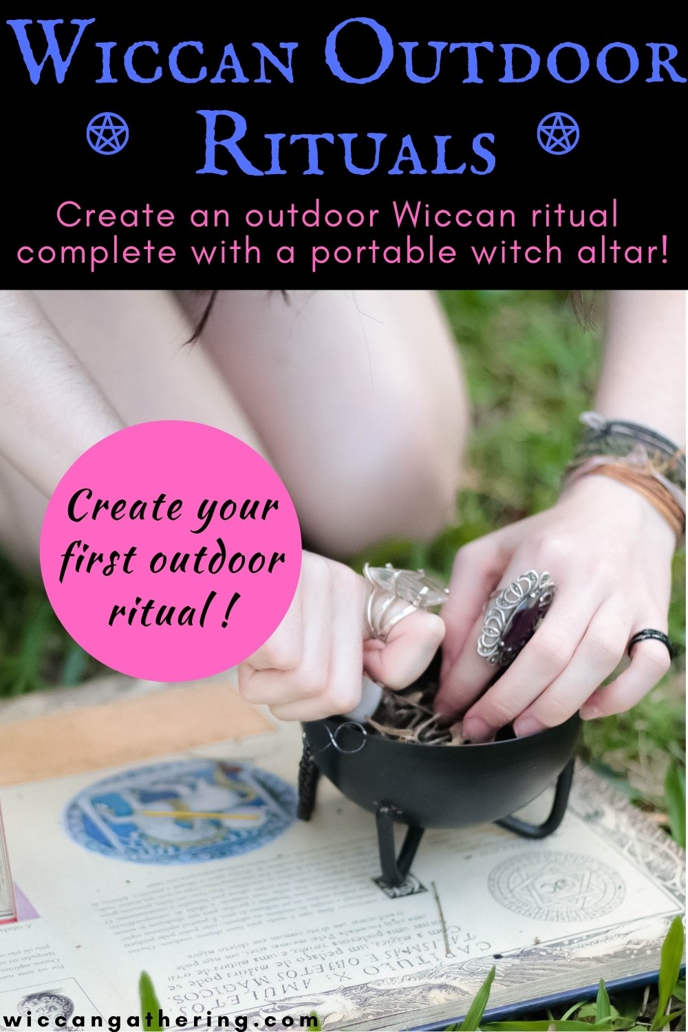 wiccan outdoor rituals witch altar