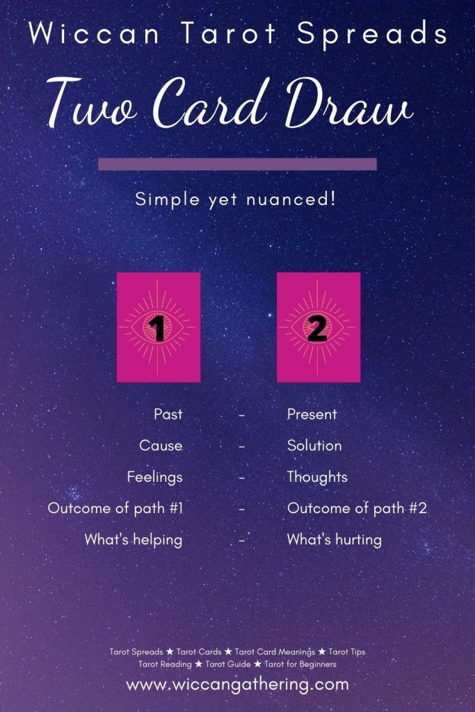 Two Card Draw Wiccan Tarot Spreads