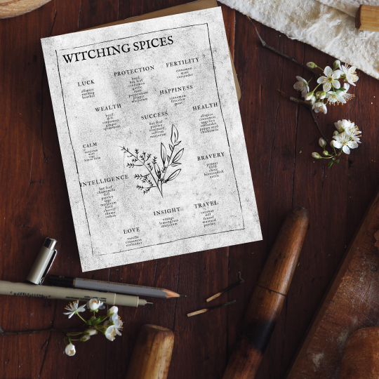 printable grimoire page printable book of shadows page bw herbs
