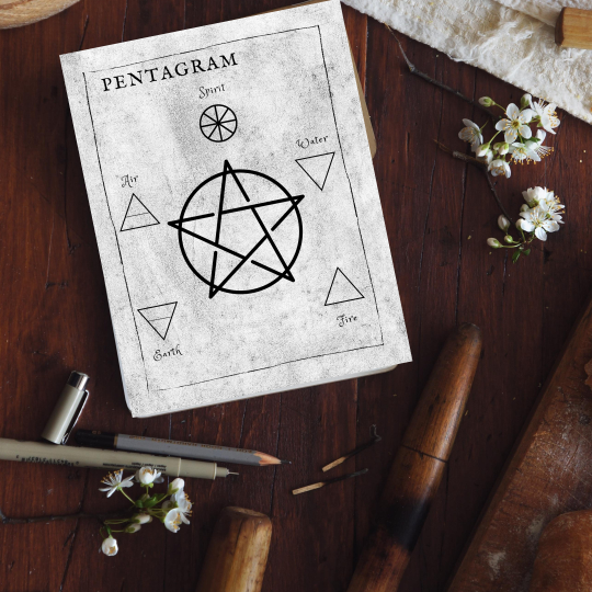 printable grimoire page printable book of shadows page bw elements