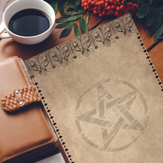 printable grimoire page printable book of shadows page parchment stationary